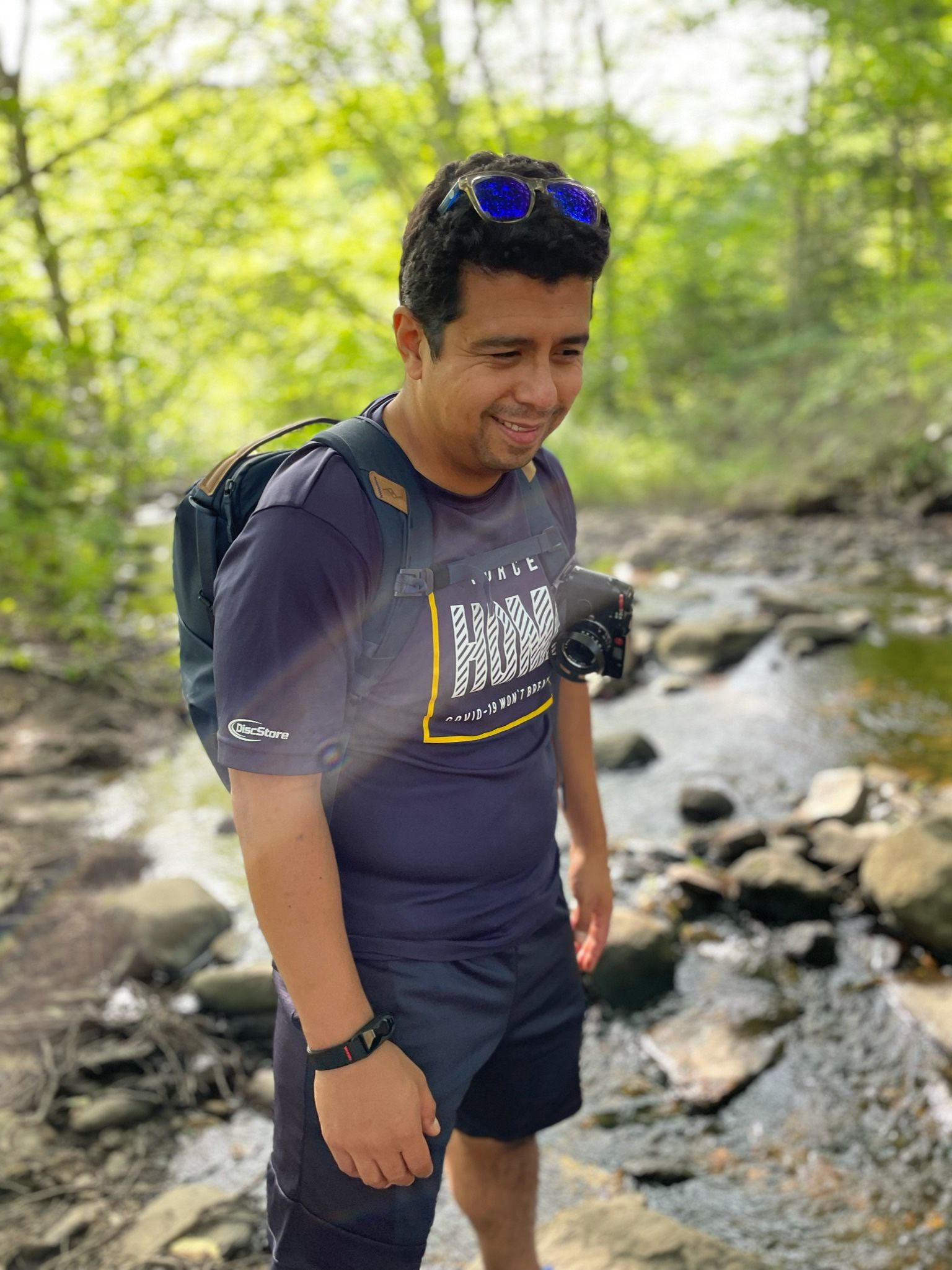 Hiking with friends in Vermont